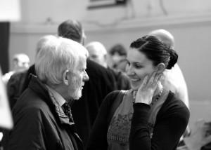 Willie Tait chatting to Celine