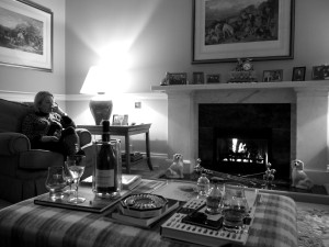 Annabel relaxing with The Glenrothes 25